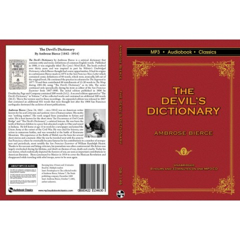 The Devil's Dictionary by Ambrose Bierce MP3 CD Audiobook in DVD case