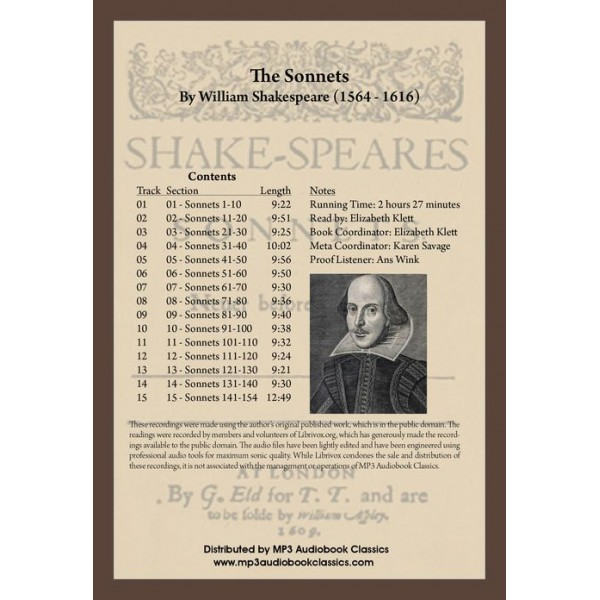 the sonnets of william shakespeare The sonnets and the lover's complaint by william shakespeare edited by g b harrison and a great selection of similar used, new and collectible books available now at abebookscom.